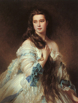 Franz Xaver Winterhalter -  Barbe Dmitrievna Mergassov Madame Rimsky-Korsakov (1864), oil on canvas, 117 × 90 cm, Musée d'Orsay, Paris.