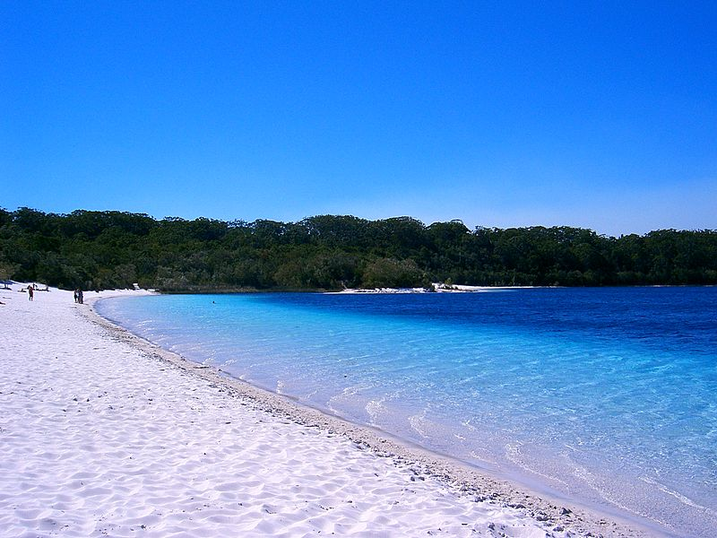 The beach at Lake McKenzie, Fraser Island