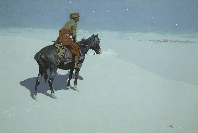 Datei:Frederic Remington The Scout Friends or Foes.jpg