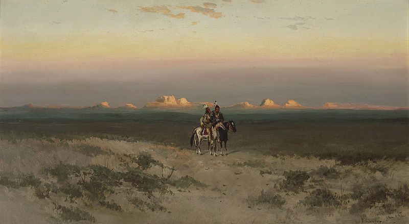 File:Frederick Ferdinand Schafer - Two Indians in the Utah desert.jpg