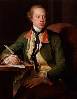 Frederick North, Lord North - Portrait of Lord North by Pompeo Batoni (1753)