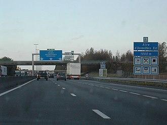 A1 autoroute - The A1 near Péronne