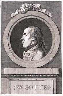 Friedrich Wilhelm Gotter, Stich von Johann Wilhelm Meil (Quelle: Wikimedia)