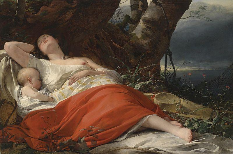 File:Friedrich von Amerling Schlafende Fischerin 1834.jpg