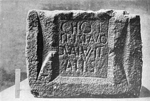 Frisii - The inscription stone found at Melandra Castle