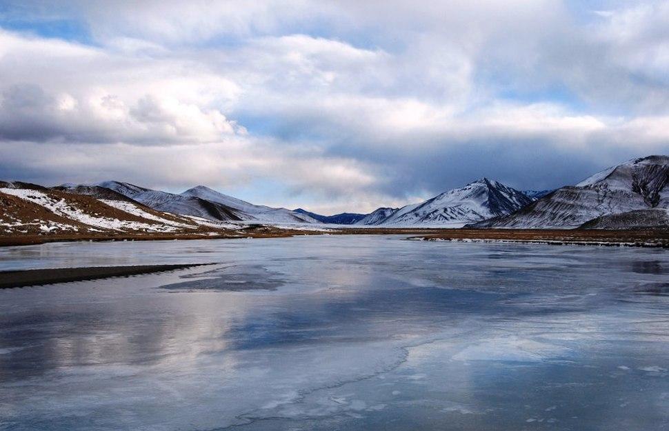 Frozen Indus, Near Nyoma