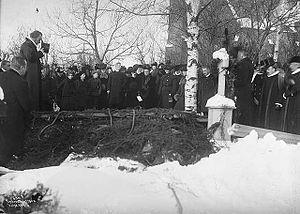 Johan Christian Heuch - Heuch's funeral on 19 February 1904.