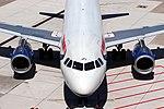 G-EUPU British Airways A319-131 front.jpg
