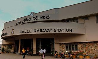 Coastal line (Sri Lanka) - Architecture at Galle station