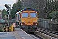 GBRailfreight Class 66, 66705, Huyton railway station (geograph 3795683).jpg