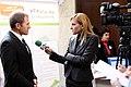 Gabriela Naplatanova taking an interview.jpg