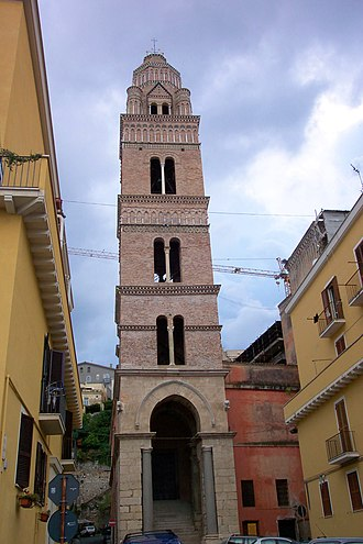 Gaeta - The famous bell tower of the Cathedral