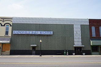 Gainesville, Texas - Gainesville Daily Register building