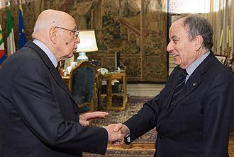 Franco Gallo - Franco Gallo with Giorgio Napolitano