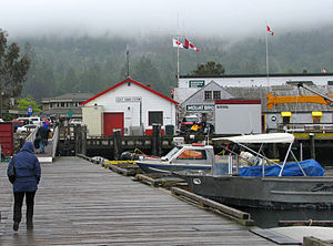 Ganges, British Columbia - Ganges wharf, Coast Guard station