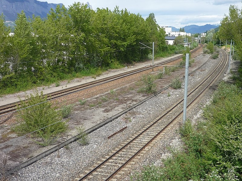 Remnants of Grenoble-Olympique train station, Eybens, Isère, France
