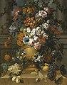 Gaspar Peeter Verbruggen (II) - Flowers in an urn with fruit on a pedestal.jpg