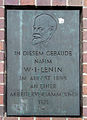 Gedenktafel Frankfurter Allee 102 (Frhai) Wladimir Iljitsch Uljanow Lenin.jpg