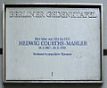 Gedenktafel Knesebeckstr 12 (Charl) Hedwig Courths-Mahler.JPG