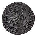 Gehelmde rijksdaalder of prinsendaalder van Holland, 1592, objectnr 53925(1).JPG