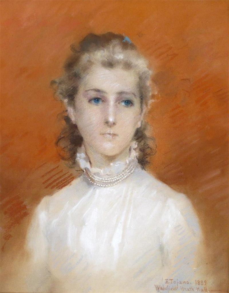 Gemälde - Mädchen mit Perlenhalskette - Edoardo Tofano - 1889.jpg