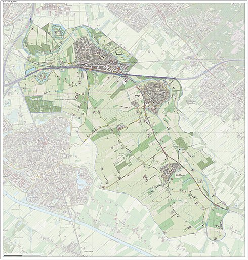 Bunnik Netherlands  city photos gallery : Dutch Topographic map of the municipality of Bunnik, June 2015.