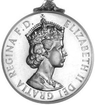General Service Medal (1962) - Image: General Service Medal 1962 obv