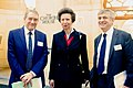 Geoffrey Dennis, the Princess Royal and Colin Morrison at an RNCF event - 2015.jpg
