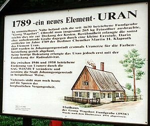Johanngeorgenstadt - The place where uranium was first discovered (1789)