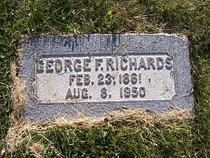George F. Richards - Image: George F Richards Headstone