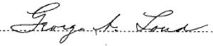George A. Loud - Signature