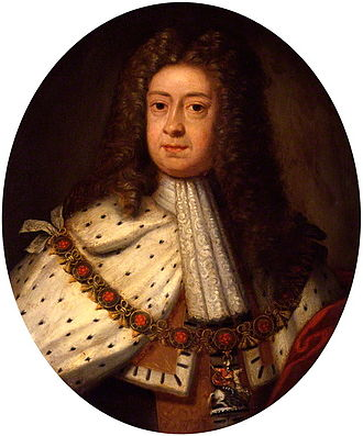 House of Este - George I, by the Grace of God, of Great Britain, France and Ireland, King, Defender of the Faith, Prince-Elector of Hanover, Duke of Brunswick. Portrait c. 1714, the year of his accession, by Sir Godfrey Kneller.