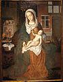 Gerard david (bottega), sacra famiglia con s. giuseppe al lavoro, 1500-50 ca, da chiesa visitazione a cisiano.JPG