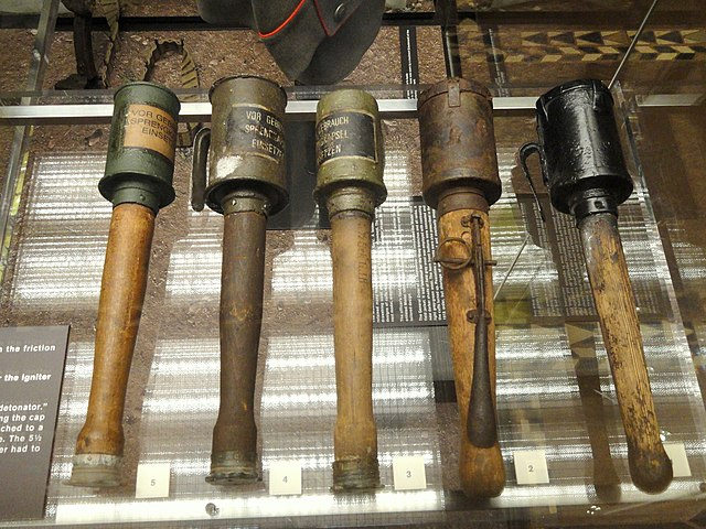 German grenades By Daderot (Daderot) [Public domain or Public domain], via Wikimedia Commons