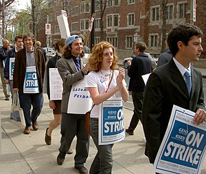 GESO protest at Yale University, 2005