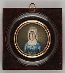 Portretminiatuur van Mada van Zuylen van Nyvelt (?)
