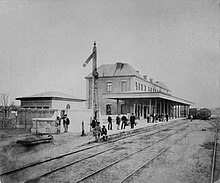 Giurgiu Train Station 1873.jpg