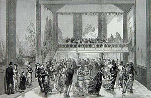 Ice skating - Interior of the Glaciarium in 1876