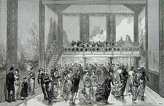 Ice rink - Interior of the Glaciarium in 1876