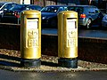 Gold postboxes, Old Market, Nailsworth (2) - geograph.org.uk - 3207104.jpg