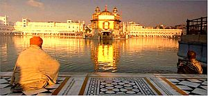 Golden temple Shimmering in Golden Morning Amritsar.jpg