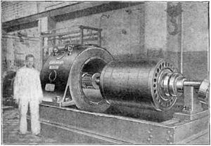 Goldschmidt alternator - Rotor of Eilvese machine