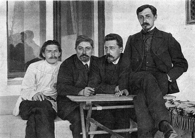 М. Горький, Д.Н.Мамин-Сибиряк, Н.Д.Телешов и И.А.Бунин. Ялта, 1902