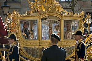 Spyker - The Netherlands' royal Golden Coach with Prince Willem-Alexander, Queen Beatrix, and Princess Máxima