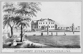 Government House (New York City) - Government House in 1795