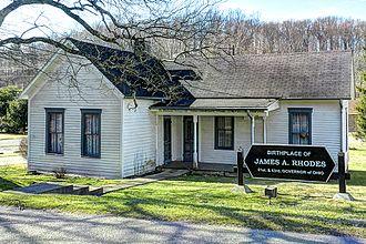Jim Rhodes - The residence where Jim Rhodes was born