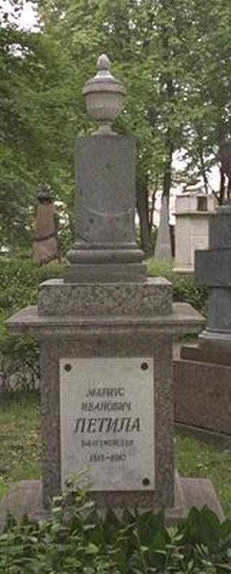 Marius Petipa - Petipa's grave in the Alexander Nevsky Monastery, St. Petersburg, Russia