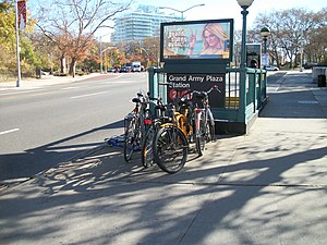 Grand Army Plaza IRT E-Pkwy; Bike Racks.JPG