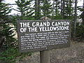 Grand Canyon of the Yellowstone historical marker Picture 1212.jpg
