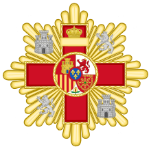 Grand Cross of the Military Merit (Spain) - Red Decoration.svg